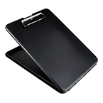 SlimMate Storage Clipboard, Letter/A4 Size, Plastic, Black