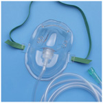 AirLife Oxygen Mask, Under the Chin, 7 foot Tubing, Pediatric
