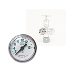 Oxygen Gauge Only, Back Port, 1.5inch OD, 1/8inch NPT, 15 LPM, Chrome