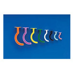 Berman Color-Coded Airways, Plastic, Non-Sterile, Individually Wrapped, 80mm, Size 3, SM Adult