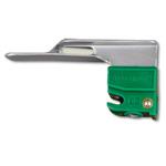 GreenLine/D Laryngoscope Blade, Stainless Steel, Fiber Optic, Miller 0, Newborn