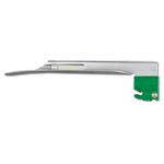 GreenLine/D Laryngoscope Blade, Stainless Steel, Fiber Optic, Miller 2, Child