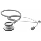 Stethoscope, Adscope Ultra-lite, PVC Eartips, Spare Diaphragm, Gray, 28inch