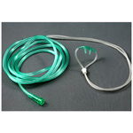 AMSure Nasal Oxygen Cannula, Adult, Curved, Non-Flared Tip, 7 Foot Tubing, Over-The-Ear Style