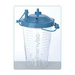 Suction Canister, 1200cc, Blue,  Vacuum-Tight,  Floor, Cabinet or Wall Mount
