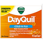 Vicks DayQuil Cold & Flu Liquid Caps 16/bx
