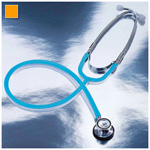 Proscope 675 Stethoscope, Dual Head, Pediatric, Neon Orange