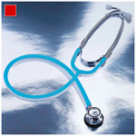 Proscope 675 Stethoscope, Dual Head, Pediatric, Red