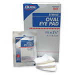 Eye Pads, Oval, Sterile, 1 5/8inch x 2 5/8inch