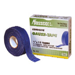 Cohesive Gauze Tape, Blue, Water Resistant, 3/4inch x 15 yard
