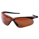 Nemesis Polarized Safety Glasses, Brown Frame, Brown Lens