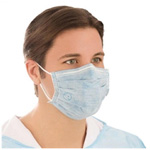 BioMask Antiviral Face Mask, Pleated w/Earloops, Blue
