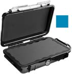 Pelican 1040 Micro Case, 6.50inch x 3.87in x 1.75in, Solid Blue with Black Rubber Liner