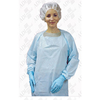 Protective Gown with Thumbloops, Blue, LG