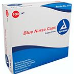 Nurse Cap O.R., 24inch Elastic Headband, Blue