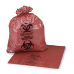SAF-T-SEAL Biohazard Bag, 6 to 8 Gal, 17inch x 18inch