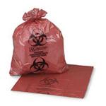 SAF-T-SEAL Biohazard Bag, 6 to 8 Gal, 17inch x 18inch