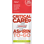 Critical Care Aspirin to Go 325mg Powder, Lemon-Lime Flavor