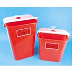 Sharps Container, 11gal, Red, 15.25inch L x 11inch W x 22inch H