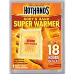 Hot Pack, Super Hothands, 4 x 5inch, Lasts Up to 18 Hours*Discontinued*