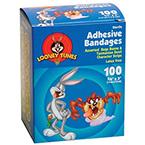 Bugs & Taz Adhesive Bandage, Plastic Strip, 3/4 x 3inch