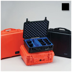 Pelican 1500EMS Case, 16.75 inch x 11.18 inch x 6.12 inch, Black w/Padded Dividers, EMS Lid Insert