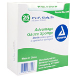 Sterile 2ftS Gauze Pads, 12 Ply, 4inch x 4inch