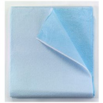 Drape/Stretcher Sheet, Extra-strength Tissue, Poly Backed, 40inch x 90inch, Blue *Discontinued*