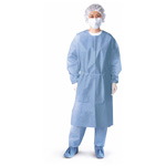 Gown, Polypropylene, Impervious, Blue, 2XL