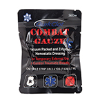 QuikClot Combat Gauze LE Z-Fold, 3in x 4yd, Black Packaging