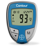 Contour Blood Glucose Meter, incl Pouch and User Guide