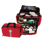 Curaplex 300 Large Semi-Rigid Trauma Bag, Red