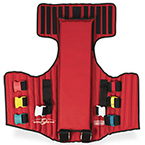 Optimum Rescue Vest, with Straps, Carry Case, Red