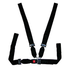 Shoulder Harness Restraint System, Impervious Webbing, 7ft Chest Strap, Black