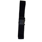 Straps, Polypropylene, Plastic Side Release Buckle, Loop-Lok Ends, 6 1/2 foot, 2 Piece, Black
