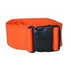 Restraint Strap, 5 ft, 1 Piece, Plastic Side Release Buckle, Orange, Set of 3