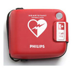 Carrying Case, Red, Rugged, for Heart-Start FRx Defibrillator and supplies.