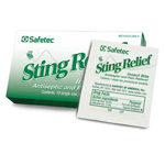 Sting Relief Wipes, 1.125inch x 2.75inch