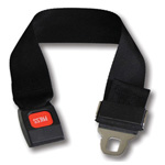 Gurney Extension Strap, Metal Push Button Buckle, 1 Piece, 2in x 24in, Black