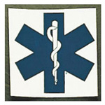 Star Of Life Square Decals, 3inch x 3inch