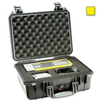 Pelican 1450 Case, 14.62inch x 10.18inch x 6.00inch, Yellow w/Padded Dividers