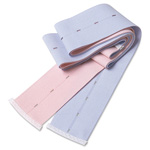 Abdominal Transducer Belt, Pink and Blue, Buttonhole, 2 3/8inch x 48inch