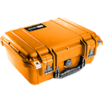 Pelican 1400 Case, 11.81 inch x 8.87 inch x 5.18 inch, Orange No Foam