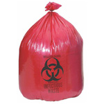 Bio-Hazard Red Liner, 40inch X 55inch, 55 Gallon