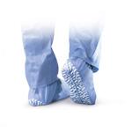 Medline Non-Skid Spunbound Shoe Covers, Large