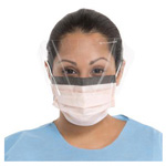 Fluidshield Procedure Mask w/Splashguard Wraparound Visor, Blue *Discontinued*