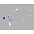 Central Venous Catheter Set and Tray, 18 ga (4.0 Fr), 8 cm Length, Double Lumen
