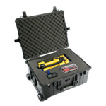 Pelican 1610 Case, 21.78inch x 16.69inch x 10.62inch, Black w/Padded Dividers