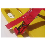 Cinch Dual BioStrap, Vinyl Coated Nylon Dual Adjust Straps, 2 Piece w/ Speed Clip & Loop Clip, Red