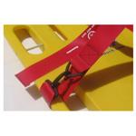 Cinch Dual BioStrap, Vinyl Coated Nylon Dual Adjust Straps, 2 Piece w/ Speed Clip & Loop Clip, Orange